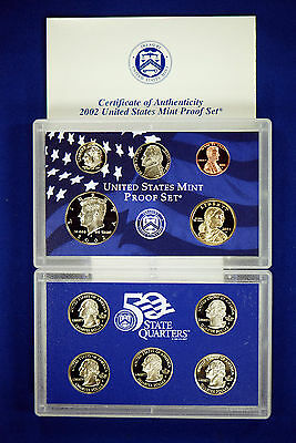 2002-s U.S. Proof Set. Complete and Original in BLUE  mint paper box