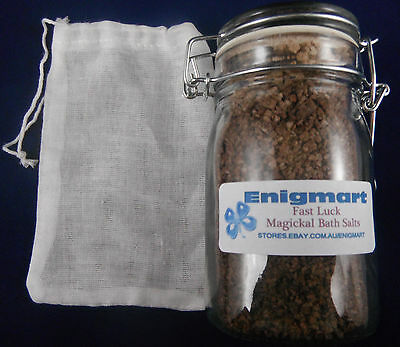 Fast Luck Magickal Bath Salts 240ml - Bring some fast luck into your life!