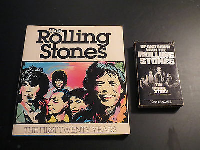 The Rolling Stones  2 B00K LOT   The First Twenty Years / Up and Down With The..