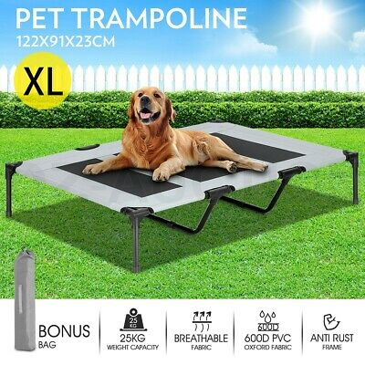 XL Pet Bed Trampoline Dog Cat Puppy Heavy Duty Frame Hammock Cot Cover