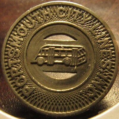 1948 Portsmouth, OH City Lines Inc. Transit Bus Token - Ohio