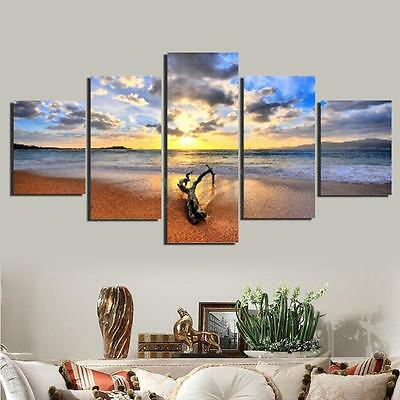 Unframed Seaside Sunset Large Canvas Painting Print Home Art Picture Decoration
