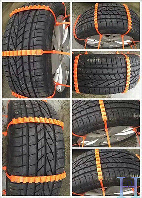 10pcs Car Snow Tire Chains Beef Tendon Vehicles Wheel Antiskid Winter Universal
