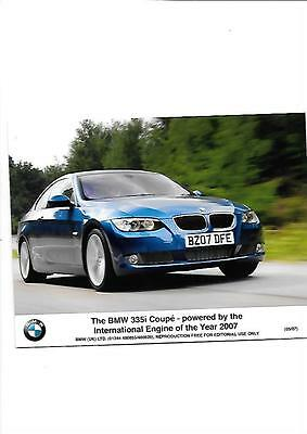 BMW 335i COUPE PRESS PHOTO MAY 2007 'SALES BROCHURE'