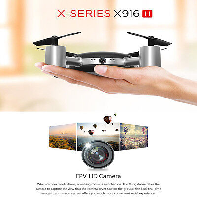 X916H 2.4GHz 4CH 6-Axis Gyro Headless RC Quadcopter Drone w/ Camera 3D Rolling