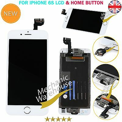 For Apple iPhone 6S LCD Digitize Display Touch Screen HomeButton Camera White UK
