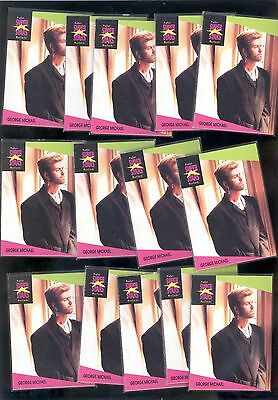 George Michael Wham 1991 Super Stars Music Cards - 14 COMPLETE SETS