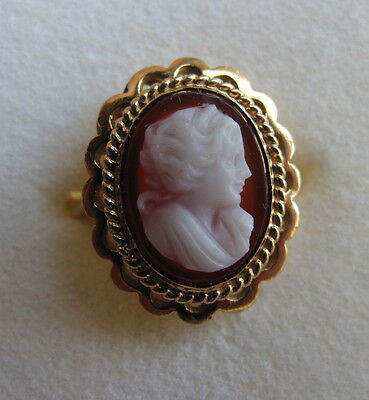 BAGUE CAMEE monture OR 18 cts