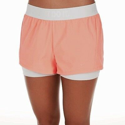 Nike Women's Circuit 2 in 1 Short with Compression Inner Shorts Size M