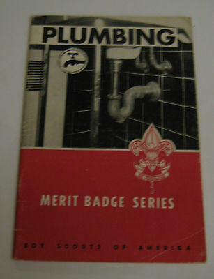 Boy Scouts of America BSA Plumbing Merit Badge Series 1958