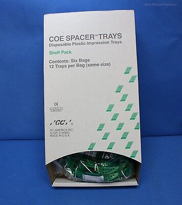 GC American 72 each COE Spacer Plastic Perforated Impression Trays 22D 250226