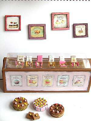 OOAK 1/12 / Scale Dollhouse Miniature Vintage French Patisserie Shop Display