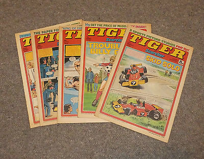TIGER & SCORCHER COMICS x 5  -1978  - (G3643M)