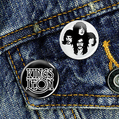 Kings of Leon Indie Rock Pop Band Button Badge Set 2 x 25mm Badges