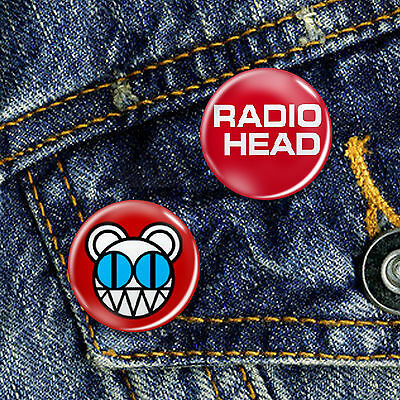 Radiohead Classic Indie Pin Button Badge Set 2 x 25mm Badges V2