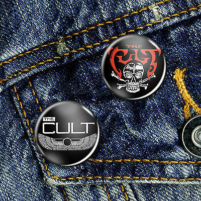 The Cult Electric Love Pin Button Badge Set 2 x 25mm Badges