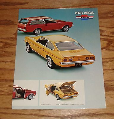 Original 1973 Chevrolet Vega Facts Features Sales Sheet Brochure 73 Chevy