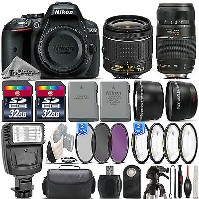 Nikon D5300 24.2MP DSLR Camera + 18-55mm VR Lens + 70-300mm Macro Lens -64GB Kit