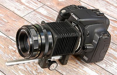 Canon EOS DIGITAL fit Macro Bellows and 50mm Helios Prime lens - 58mm close ups