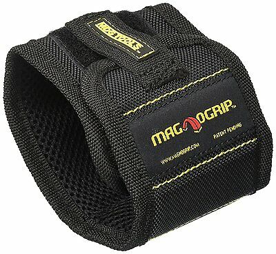 MagnoGrip 002-351 Magnetic Wristband Hold Screws Nails Pins Work Glove- Black
