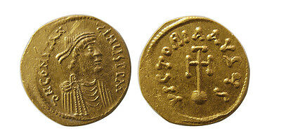 PCW-B739-BYZANTINE EMPIRE. Constans II. 641-668 AD. AV Semissis. FDC. Lustrous.