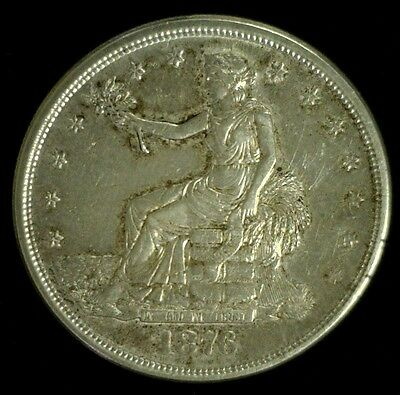1876-S Silver Trade Dollar Au Lightly Cleaned  (3181)
