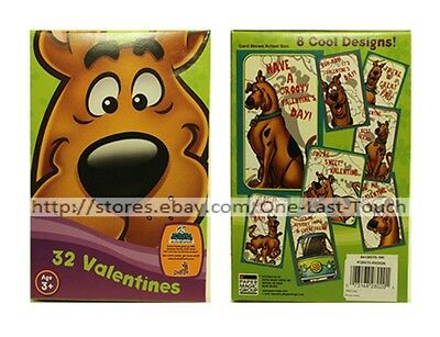 SCOOBY-DOO!* 32 Valentine's Day Cards BE MINE+GROOVY 8 Cool Designs FOR BOY 1/10