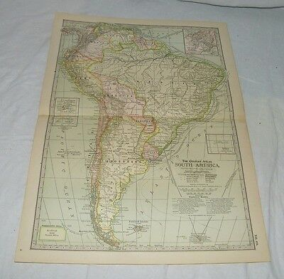 Vintage South America The Map CENTURY DICTIONARY AND CYCLOPEDIA 1906 19783