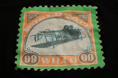 Vintage Wilco Tour Concert T-Shirt 1999 2000 Black Postage Stamp Airplane XL