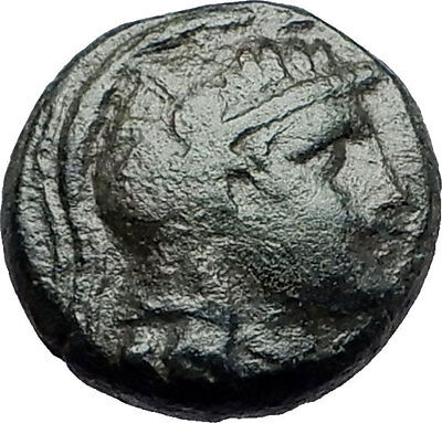 PELLA in MACEDONIA 158BC Athena Bull Genuine Authentic Ancient Greek Coin i58067