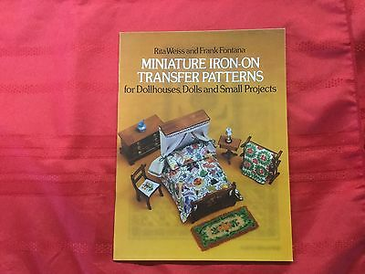 Miniature Iron-On Transfere Patterns for Dollhouses and Dolls Rita Weiss