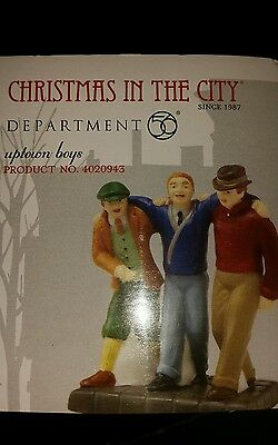 DEPT 56 CHRISTMAS IN THE CITY Accessory UPTOWN BOYS New in box
