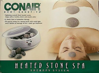 NEW CONAIR HR10 Heated Hot Stone Spa Therapy System