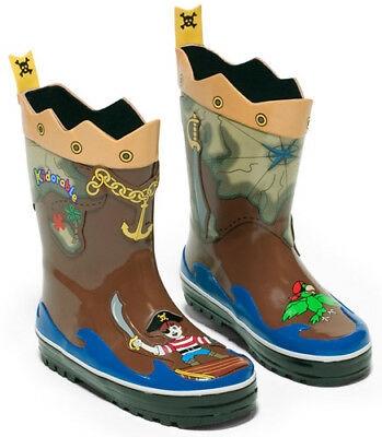 NEW Kidorable Pirate Kids Boys Toddler Wellies Rain Boots Gumboots