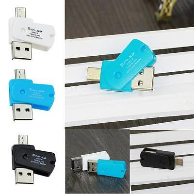 OTG Micro USB to USB 2.0 Micro SD TF Card Reader Adapter for Samsung HTC Sony