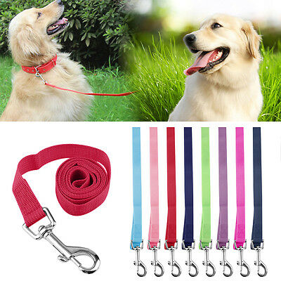 120*2cm Nylon Lead Leash Recall Pet Dog Puppy Long Training Obedience LUO
