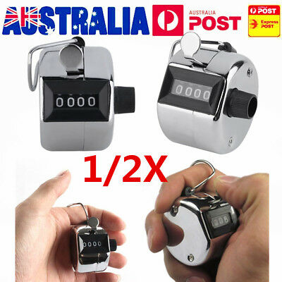 2PCS Sale High Quality Hand held Tally Counter 4 Digit Number Clicker Golf BEO