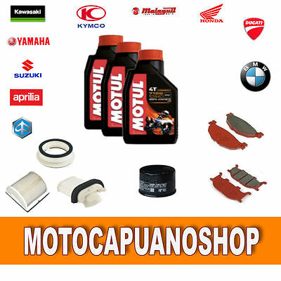 Replacement Kit Yamaha T Max 500 2001 Pads Oil Motul 7100 Filters Tmax