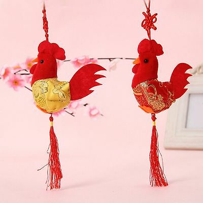 Gifts China Wind Pendant Cock Rooster Plush Chicken Doll