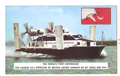 HISTORIC POSTCARD - THE WORLD'S FIRST HOVERCOACH (1962) unused