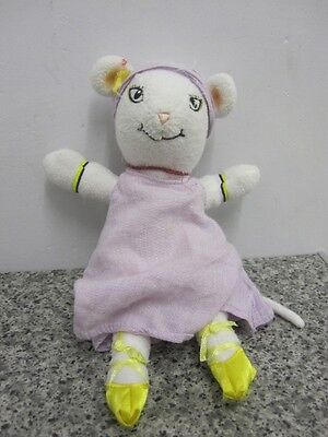 "Angelina Ballerina 9"" Soft Toy White Mouse Ballet"