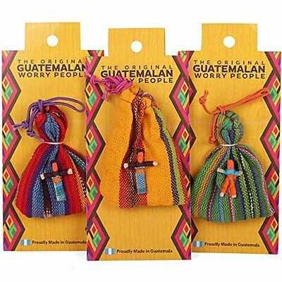 Worry Dolls/People ~ Guatemalan Worry People Doll & Bag Set