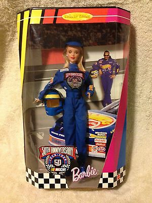 Nascar Barbie - 50Th Anniversary - Collector Edition 1998 - Blonde 20442 Gc