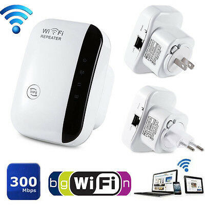 WPS AP Range Wifi Repeater Booster Router Signal Extender 300Mbps 802.11