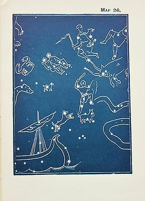 Antique Print Star Chart - Constellations - Celestial - Astrology - Astronomy 26