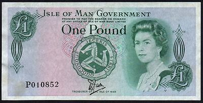 1983 Isle Of Man Government £1 Banknote * P 010852 * Vf+ *