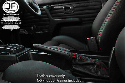 RED STITCHING  REAL LEATHER SHIFT BOOT FITS PORSCHE 914 1970-1976