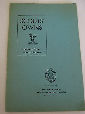 Scouts' Own for Protestant Scout Groups - Boy Scouts of Canada