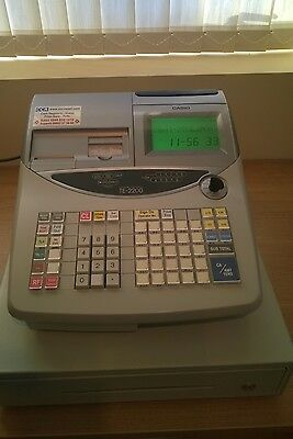 Casio Cash Register TE-2200 till Twin thermal rolls scanning enabled superb