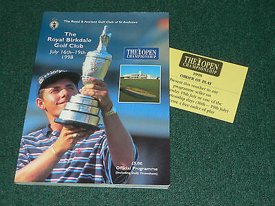 1998 British Open Golf Championship (ROYAL BIRKDALE) Official Programme
